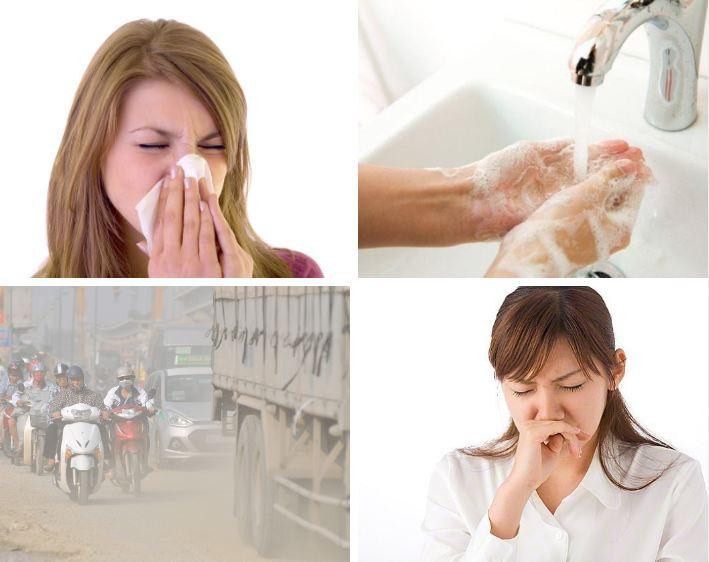 Môi trường, điều kiện vệ sinh, tiền sử bệnh, cơ địa mỗi người là những yếu tố có thể gây viêm đa xoang