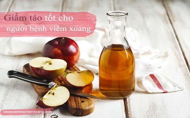 Giấm táo - Thực phẩm chữa viêm xoang