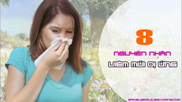 Nguyên nhân gây bệnh viêm mũi dị ứng