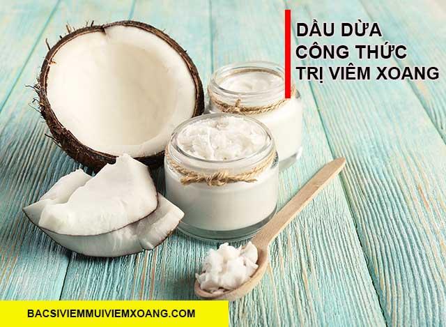 Bài thuốc dân gian trị viêm mũi bằng dầu dừa