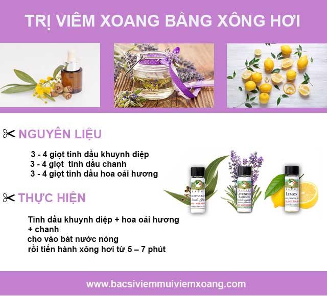 Bài thuốc dân gian trị viêm xoang từ dầu khuynh diệp + chanh + hoa oải hương
