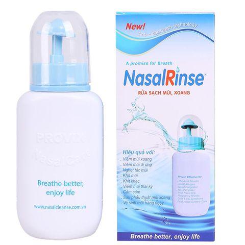 Dung dịch nước muối sinh lý Nasal Rinse và bình xịt