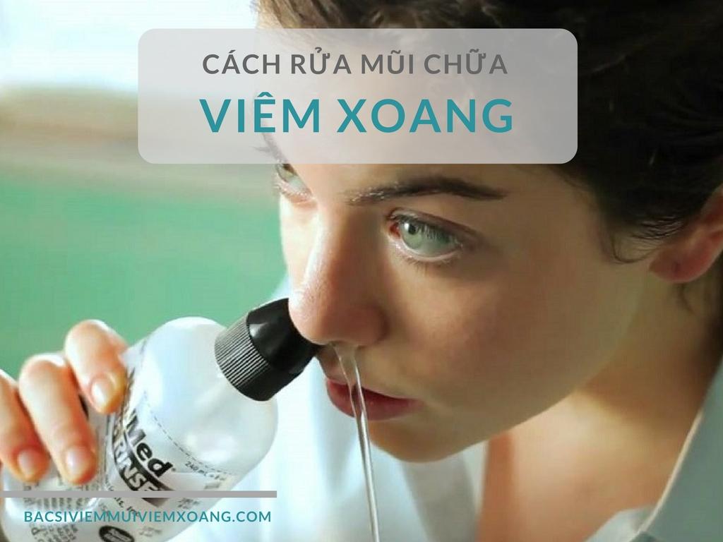 Cách rửa mũi cho người bị viêm xoang