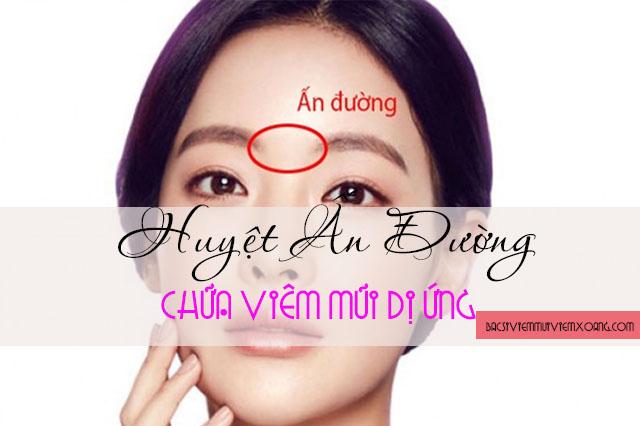 Bấm huyệt chữa viêm mũi dị ứng