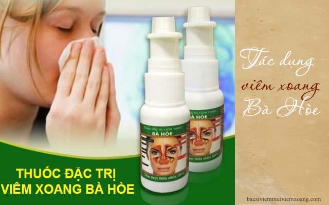 Tác dụng của thuốc viêm xoang bà Hòe