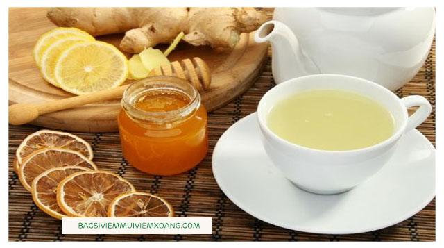 Chữa viêm họng bằng trà gừng mật ong