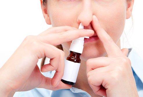 Một số thuốc xịt, thuốc co mạch được chỉ định sử dụng trong điều trị viêm xoang