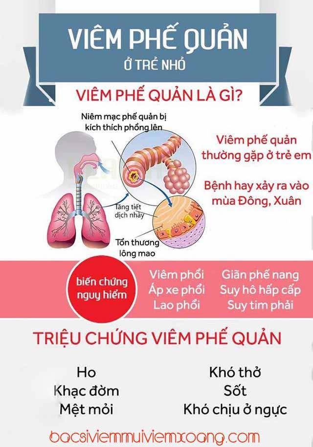 Dấu hiệu viêm phế quản ở trẻ - viêm phế quản phổi trẻ sơ sinh
