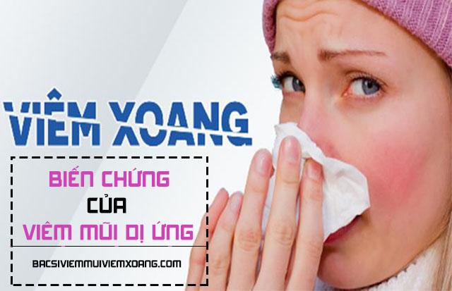 Viêm xoang - Biến chứng của bệnh viêm mũi dị ứng