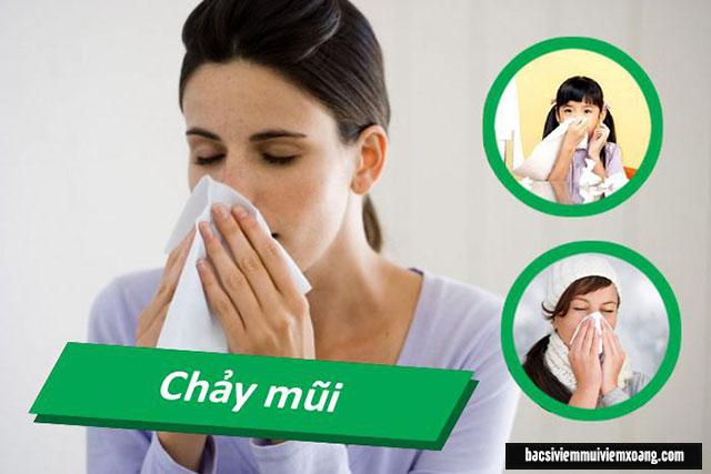 Chảy mũi - Dấu hiệu bệnh viêm xoang bội nhiễm