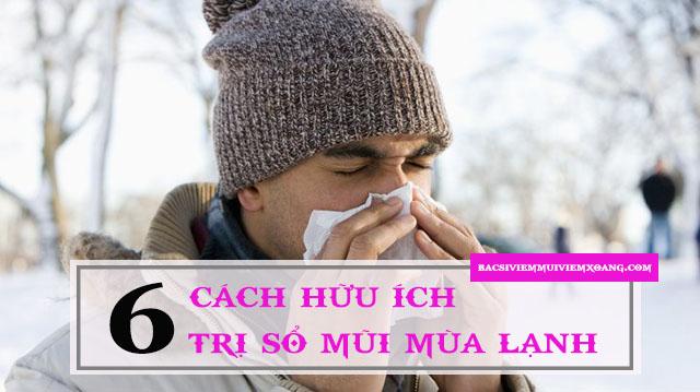 Điều trị sổ mũi mùa lạnh