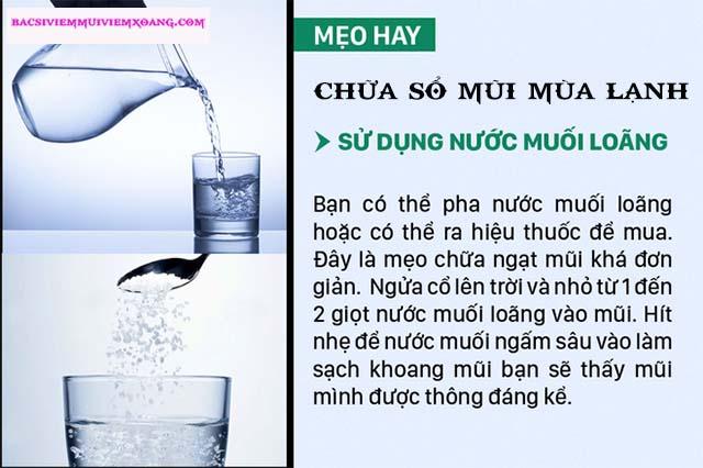 Chữa sổ mũi mùa lạnh bằng nước muối sinh lý