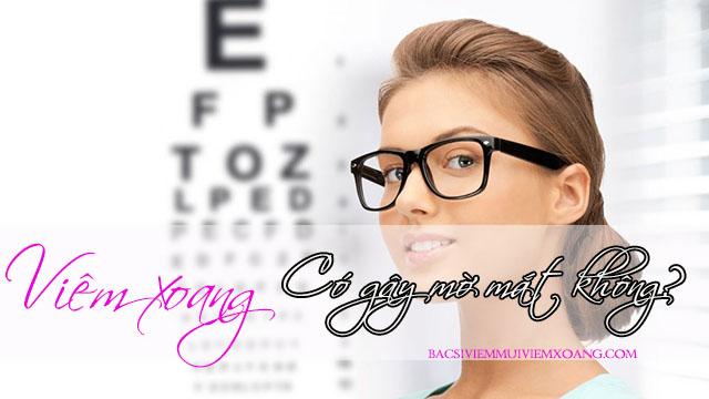 Viêm xoang có gây mờ mắt hay không? viêm xoang biến chứng mắt