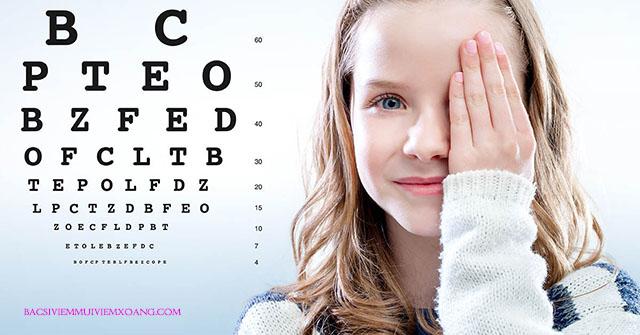 Viêm xoang làm mờ mắt thường gặp ở trẻ nhỏ