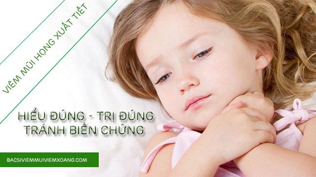 Bệnh viêm mũi họng xuất tiết và những điều bạn cần biết