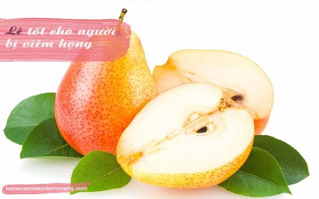 Trái cây trị viêm họng