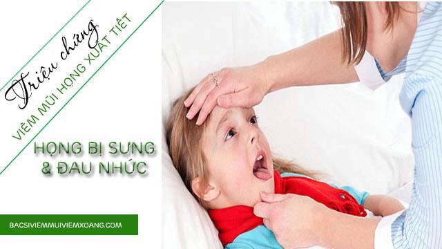 Triệu chứng viêm mũi họng xuất tiết