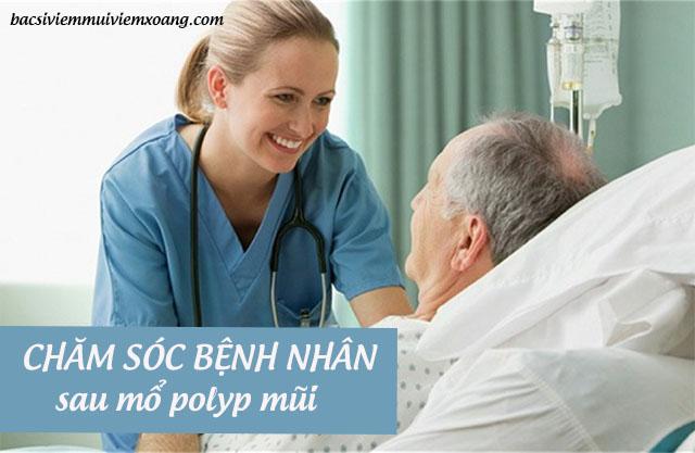 Chăm sóc sau mổ polyp mũi