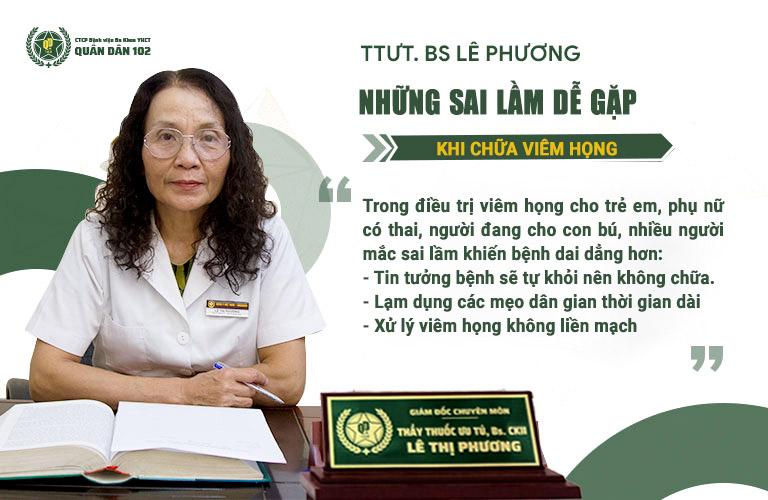 Bác sĩ Lê Phương chia sẻ về những sai lầm khi chữa viêm họng