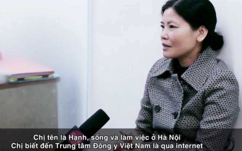 Chị Hạnh bệnh nhân viêm amidan tại Trung tâm Đông y Việt Nam
