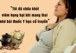 Viêm họng hạt khi mang thai