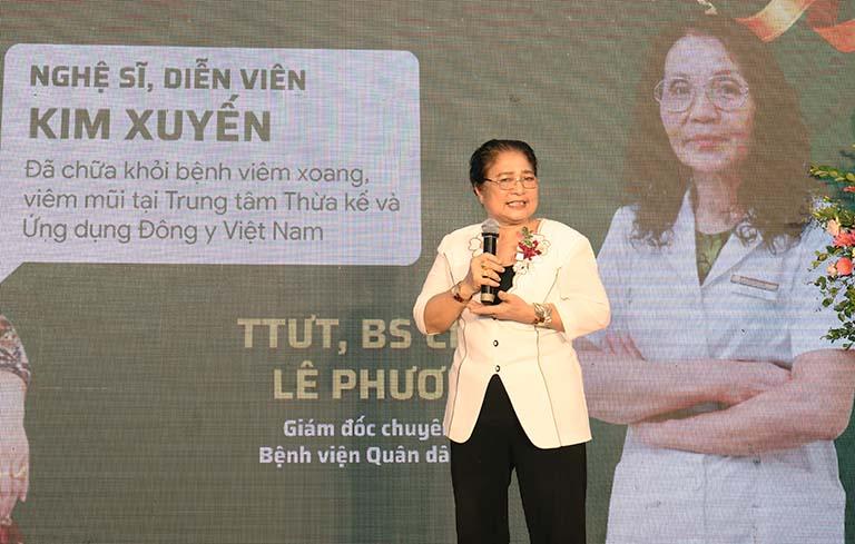 Nghệ sĩ Kim Xuyến đã chữa khỏi viêm xoang nhờ bác sĩ Lê Phương và bài thuốc nam Quân dân 102